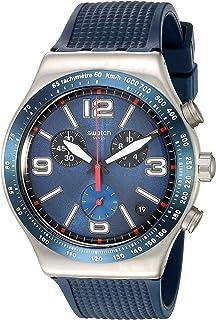 Swatch Reloj Cronógrafo de Cuarzo Unisex con Correa de Silicona ...