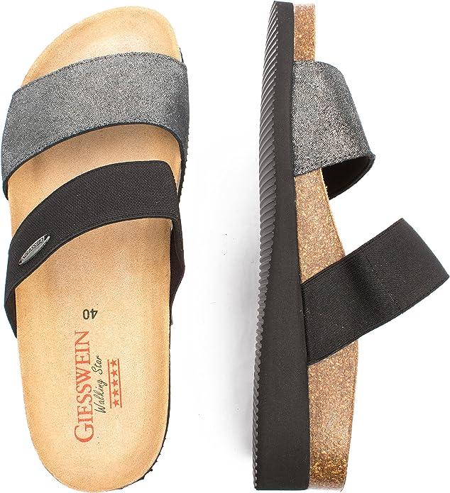 Giesswein Viverone Pantoffeln 38 42 Kork Leder Slipper