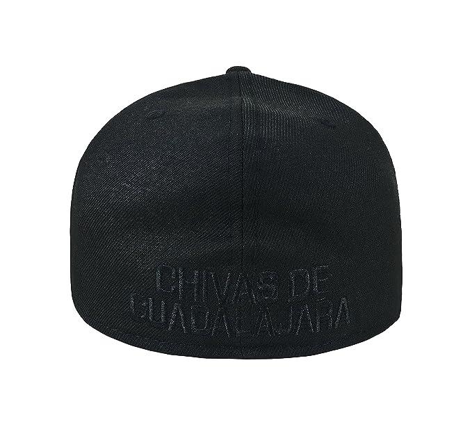 403daf4bc1d81 Amazon.com  New Era 59Fifty Hat Chivas De Guadalajara Liga MX Soccer  Black Black Fitted Cap  Clothing