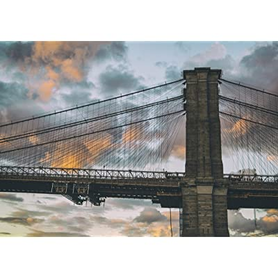 """Brooklyn Bridge - New York Jigsaw Puzzle for Adults 1000 Piece - 19"""" x 27"""" Size: Toys & Games"""