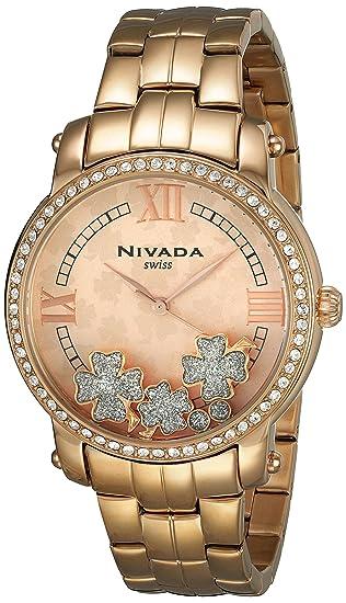 e753cd5bab64 Nivada NP3701LDODI Reloj Formal para Mujer  Nivada  Amazon.com.mx ...