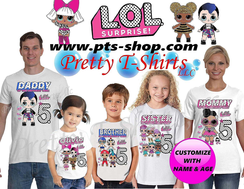 LOL DOLL GIRLS PERSONALISED BIRTHDAY T-SHIRT