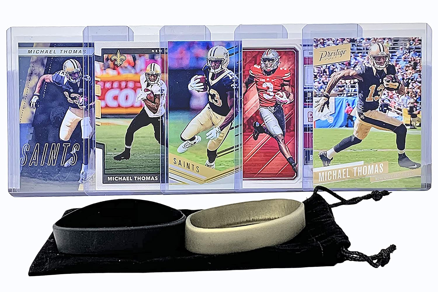Michael Thomas Football Cards (5) Assorted Bundle - New Orleans Saints Trading Card Gift Set Panini Bowman Topps