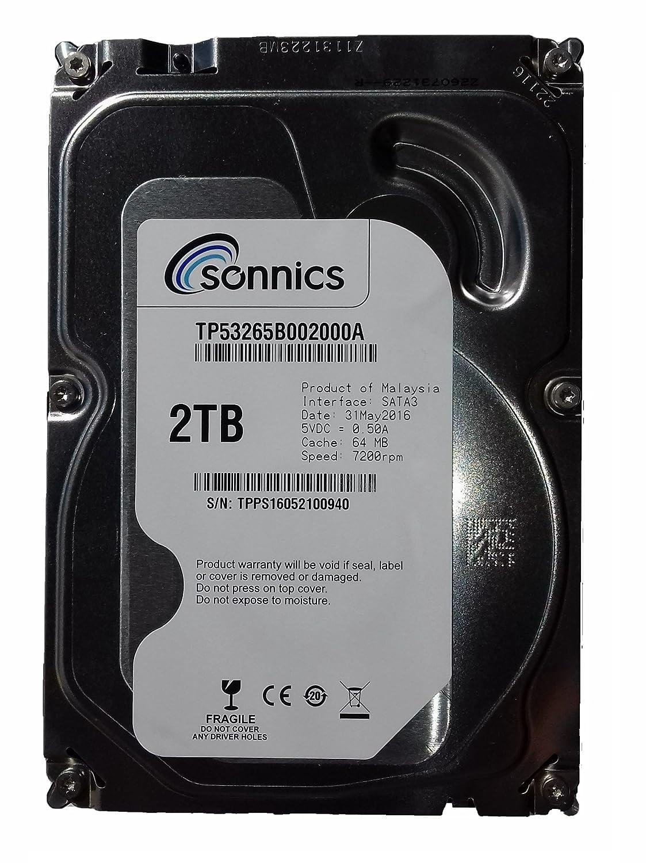 Sonnics 2TB Disco duro para ordenadores de sobremesa de (7200 rpm ...
