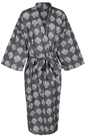 Ladies Lightweight Cotton Dressing Gown - Women s Kimono Robe 100% Cotton b1616306c