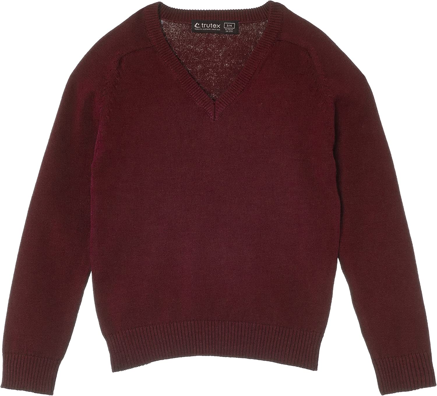 12 Years Trutex Girls Cotton V Neck Jumper Manufacturer Size: X-Small Maroon