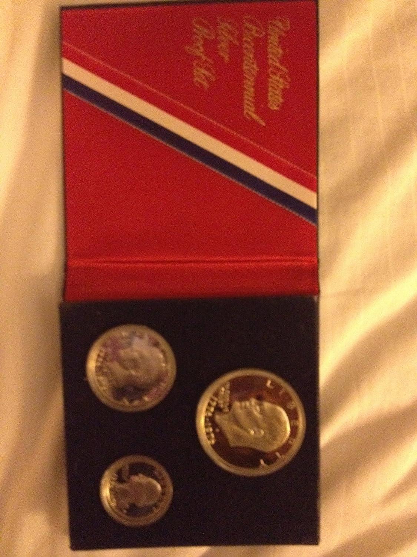 Bicentennial Silver Proof 3 Coin Set  40/% Silver Original PKG 1776-1976 U.S