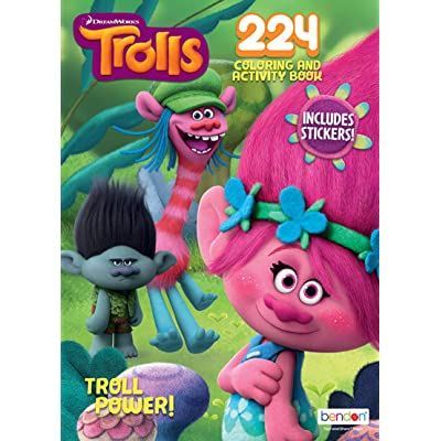 Bendon Dreamworks' Trolls Troll Power! 224-Page Coloring and Activity Book with Over 30 Stickers: Toys & Games