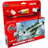 Airfix A55106 1:72 Messerschmitt Bf109e Military Aircraft Category 1 Gift Set