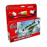 Airfix 1:72 Messerschmitt Bf109e Military Aircraft Category 1 Gift Set
