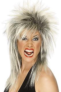 Smiffys 42239 Déguisement - Femme - Perruque Diva Rock, Multicolore, Taille  Unique 5c6f9b0e8001
