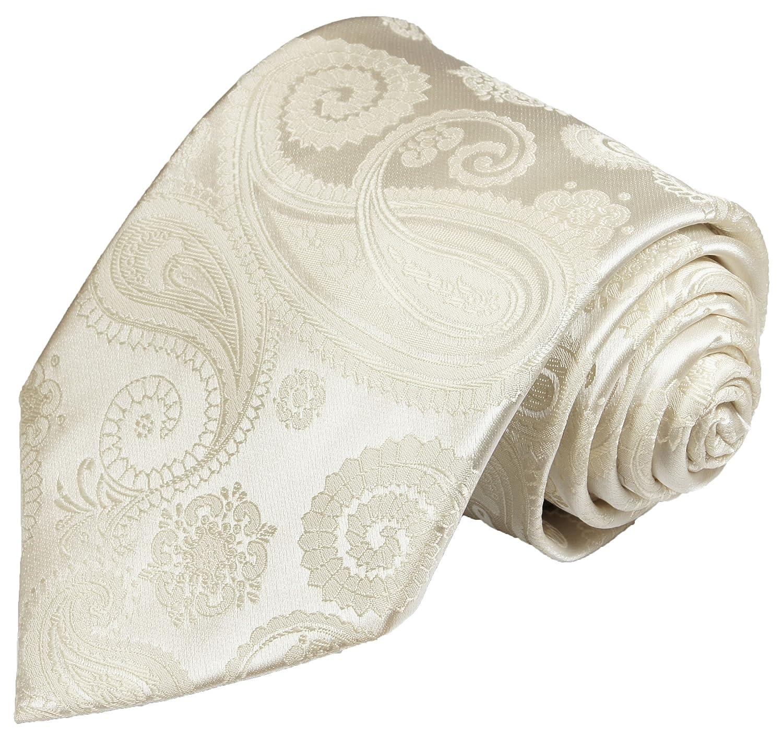 Paul Malone - Corbata de boda - Paisley - Hombre marfil blanco ...