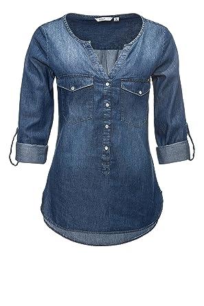 ONLY Damen Jeansbluse Hemdbluse Langarmbluse Tunika: Amazon.de: Bekleidung