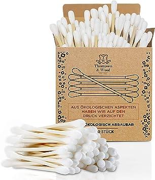 200 bastoncillos de algodón de bambú biodegradables, 100% veganos ...