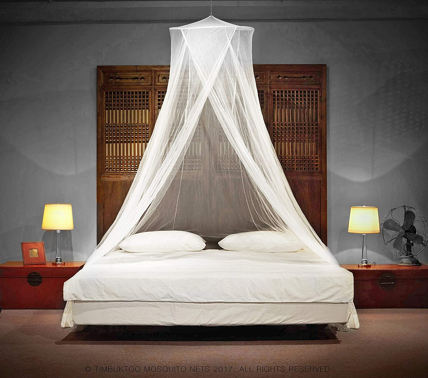 low priced 50db4 b199f TIMBUKTOO MOSQUITO NETS Luxury Mosquito NET - for Single to King Size Beds  Quick and Easy Installation System - Unique Internal Loop - 2 Entries - ...