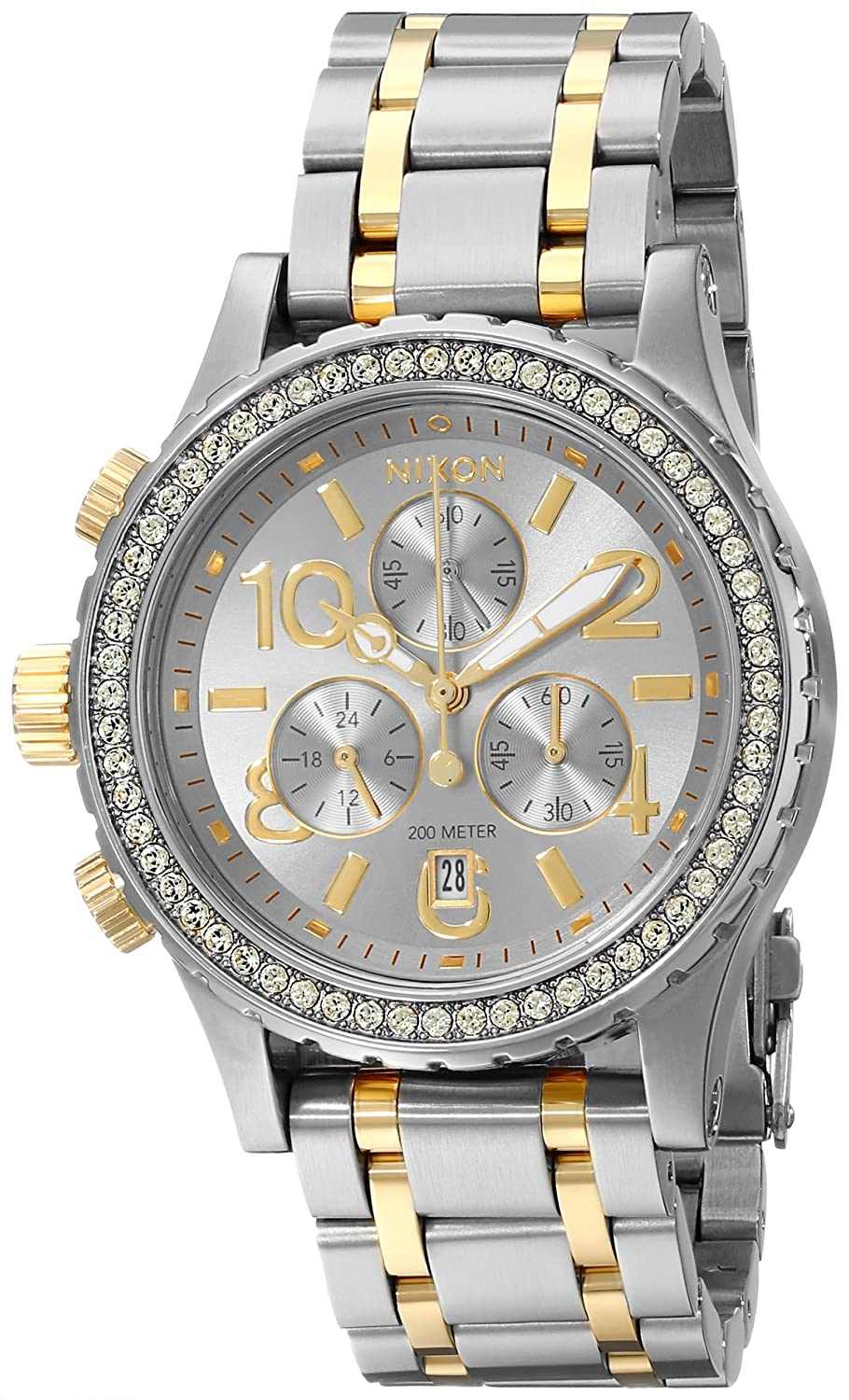Nixon Womens A4041520 38 20 Chrono Watch Gold Chronograph Parts Diagram Related Images Watches