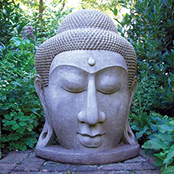 Ordinaire Grand Stone Buddha Head Statue   Large Garden Sculptures