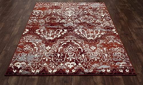 Art Carpet Bastille Collection Emerge Woven Area Rug, 9 x 12 , Red Linen