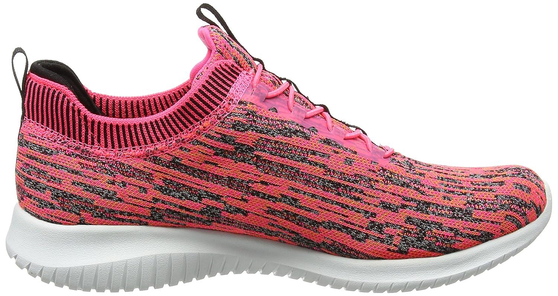 Skechers Women's Ultra Flex Bright Horizon Sneaker B01MS9T7AV 6.5 B(M) US|Pink/Black