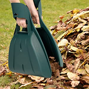 Pure Garden Leaf Grabber Hand Rake Claw- Lightweight, Durable Gorilla Garden Tool for Scooping Leaves, Spreading Mulch, Yard Work and More