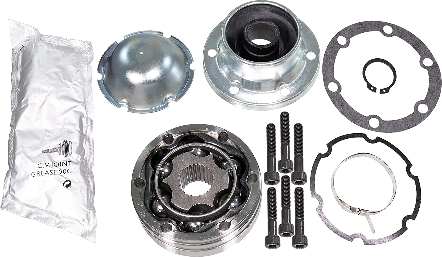 APDTY 043312 Front Driveshaft Propeller Drive Shaft CV Joint Kit Fits Select Explorer Ranger Mountaineer Aviator B3000 B4000 Transfer Case Side; Replaces 1L2Z-4A376-AA, XL2Z-4A376-AA
