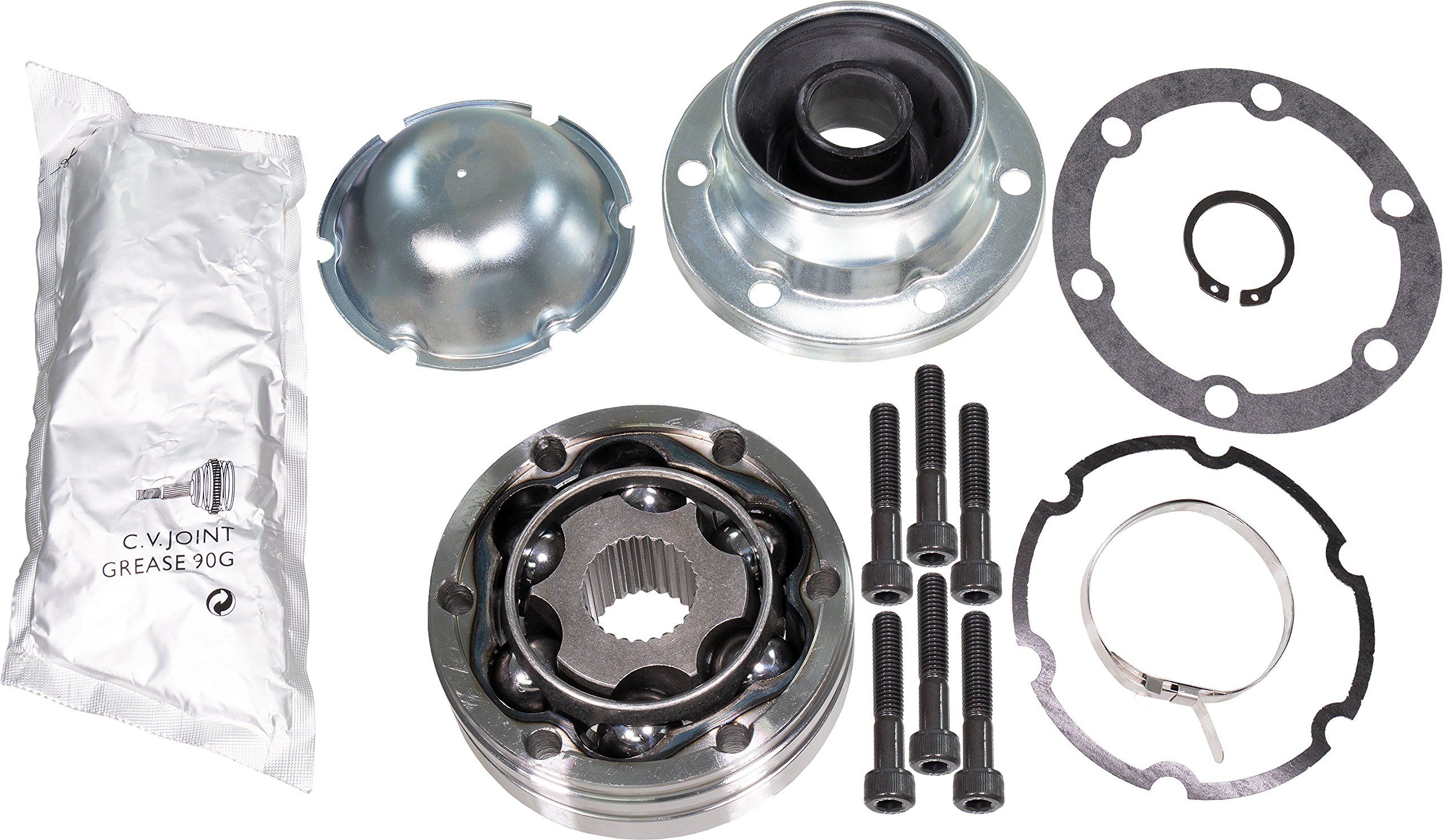 APDTY 043312 Front Driveshaft Propeller Drive Shaft CV Joint Kit Fits Select Explorer Ranger Mountaineer Aviator B3000 B4000 (Transfer Case Side; Replaces 1L2Z-4A376-AA, XL2Z-4A376-AA)