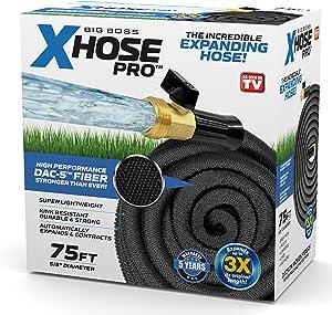 Xhose Pro DAC-5 High Performance Lightweight Expandable Garden Hose with Brass Fittings (75 Feet)
