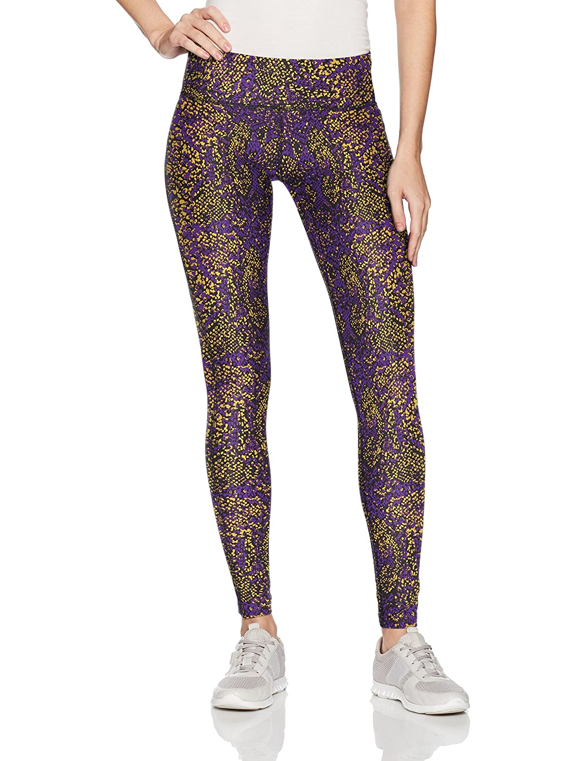 Purple gold black Zubaz Women's Casual Printed Athletic Lounge Leggings