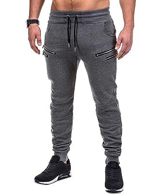 6f5026474c6953 BetterStylz SaschaBZ Jogginghose Zip Slim Fit Sweatpants Jogger Fitness  Trainingshose Paris Style div. Farben (