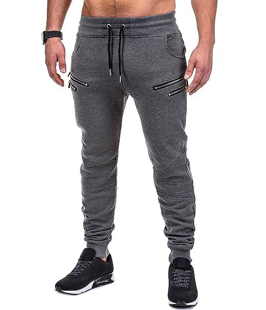 ce9aebb10e505 BetterStylz SaschaBZ Hombre Pantalones Deportivos Jogger Pantalón de  chándal con 4 Cremalleras Sweatpant DIV Colores (S-XXL)  Amazon.es  Ropa y  accesorios