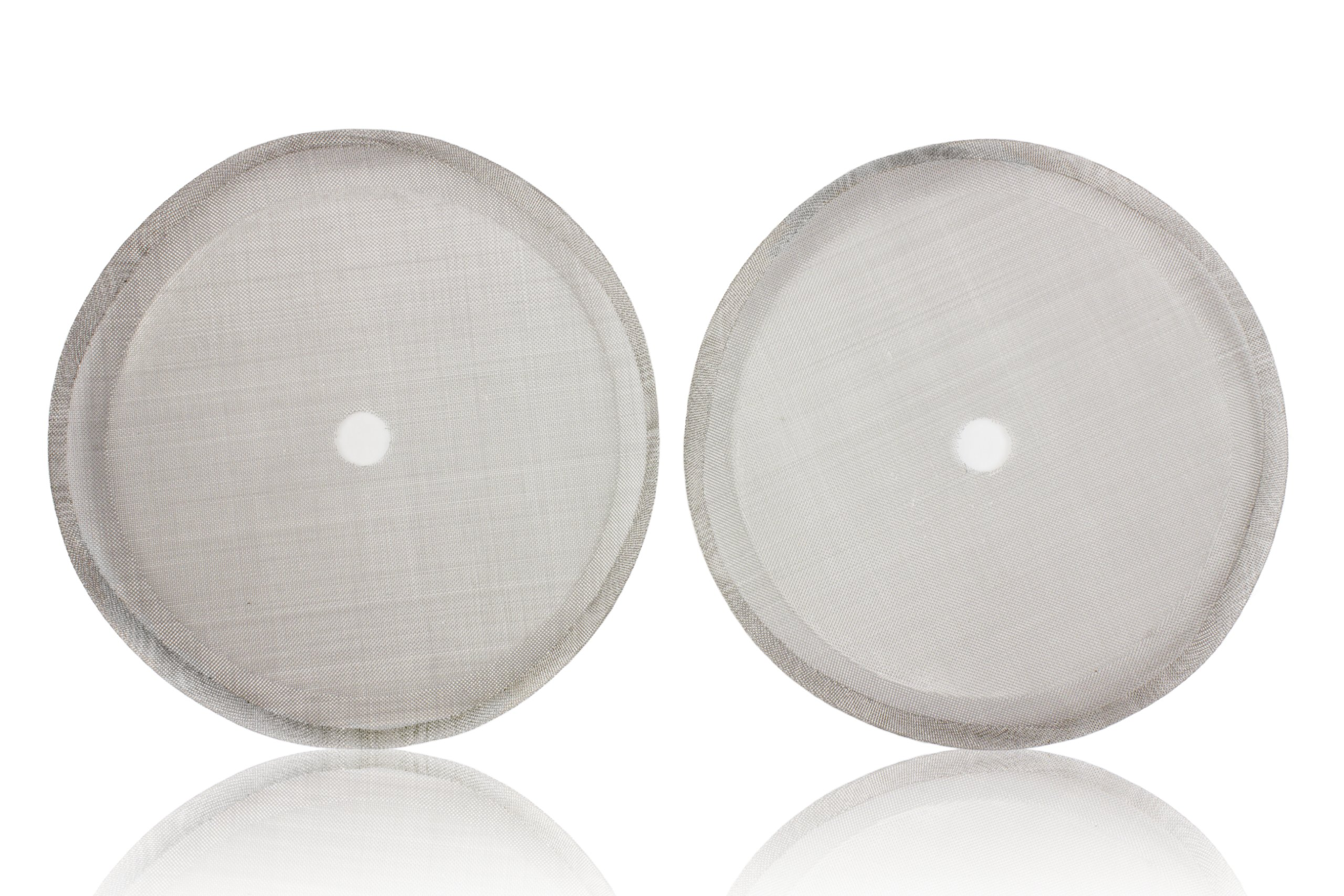 Coffee Press Replacement Screen Parts, 2 Pack Universal 8-Cup Stainless Steel Reusable Filter