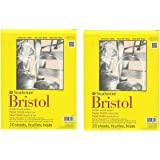 strathmore Bristol Smooth Paper Pad, 9 by 12-Inch, 20 Sheets, 2 pads