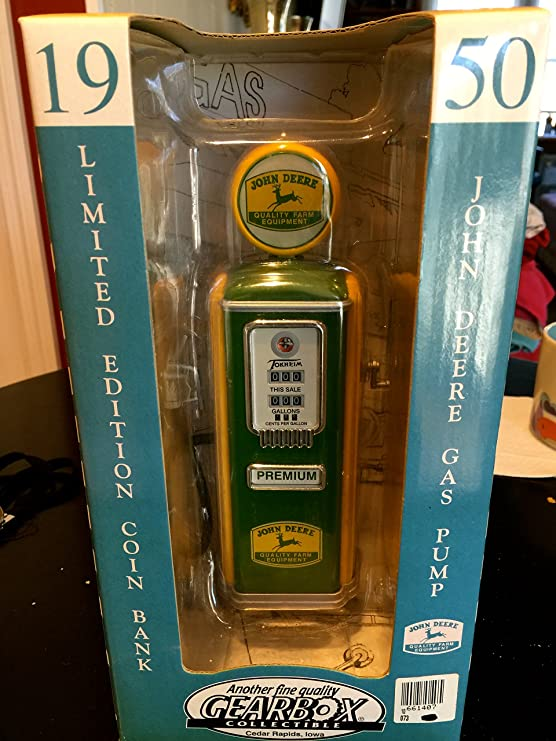 Amazon com: 1950 Limited Edition John Deer Gas Pump Coin Bank: Toys