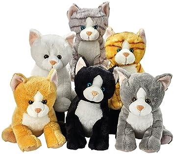 Lelly 25 cm Colores Surtidos Sentado Peluche de Gatos: Amazon.es: Juguetes y juegos