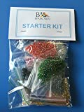 MIXED SIZE SEED BEAD STARTER KIT 15 COLOURS