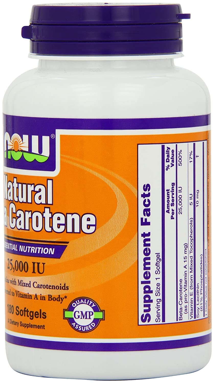 NOW Natural Beta Carotene Softgels Image 3