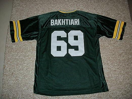 Amazon.com: Unsigned David Bakhtiari #69 Green Bay Custom Stitched ...