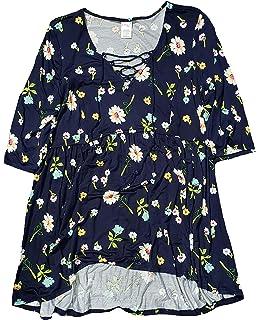 815c21e7f8d Women s Plus Size Arctic White Floral Print Off Shoulder Peasant Top ·   16.99 -  27.82 · Terra   Sky Blue Cove Floral Print Plus Size Baby Doll  Tunic