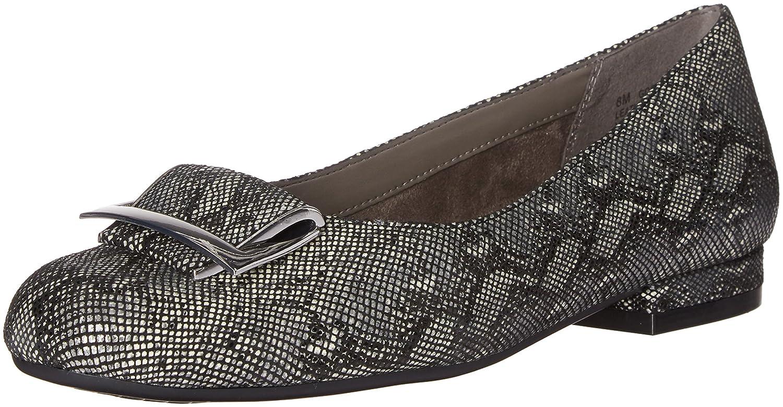 Aerosoles Women's Good Times Slip-On Loafer B01ELLTOIW 9 W US|Black Snake