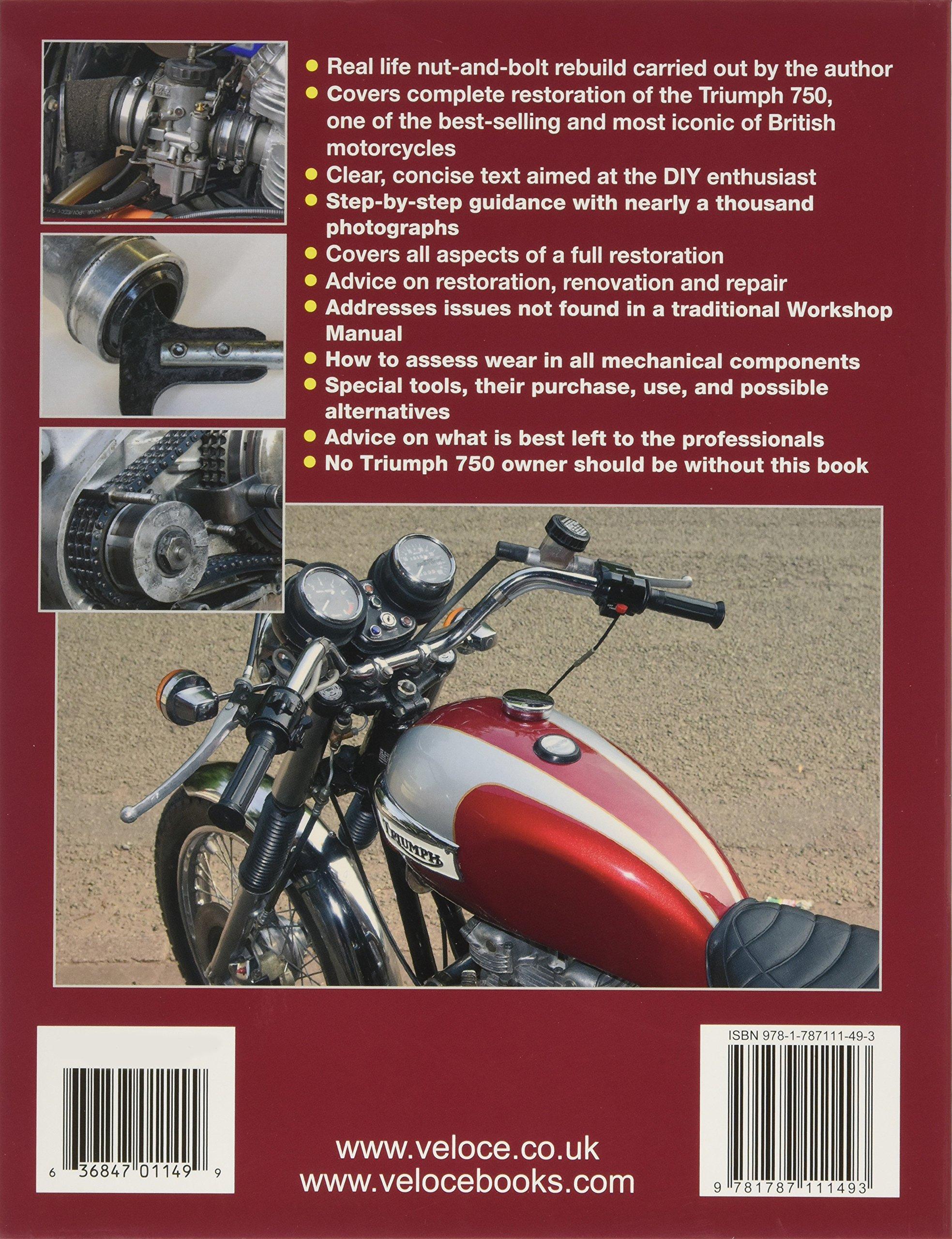 Triumph Bonneville T140 Enthusiasts Restoration Manual Amazonco