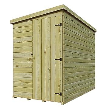 6 x 3 de madera tratada a presión caseta de jardín cobertizo (Lean Tongue &