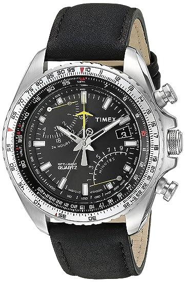 Timex IQ Aviator Chrono T2p101 - Reloj (Reloj de Pulsera, Masculino, Acero Inoxidable
