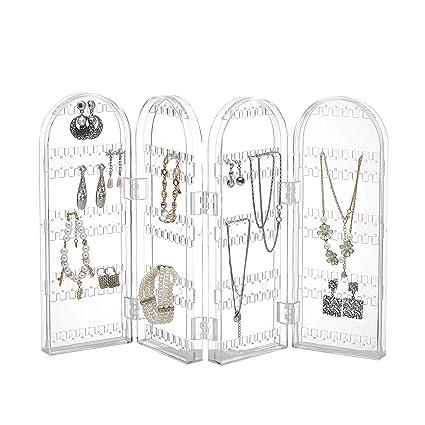 Amazoncom Beautify Jewelry Hanger Organizer Foldable Acrylic