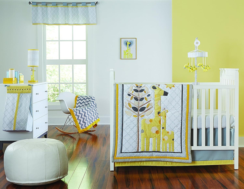 Happy Chic Baby by Jonathan Adler Safari Giraffe 4 Piece Crib Bedding Set