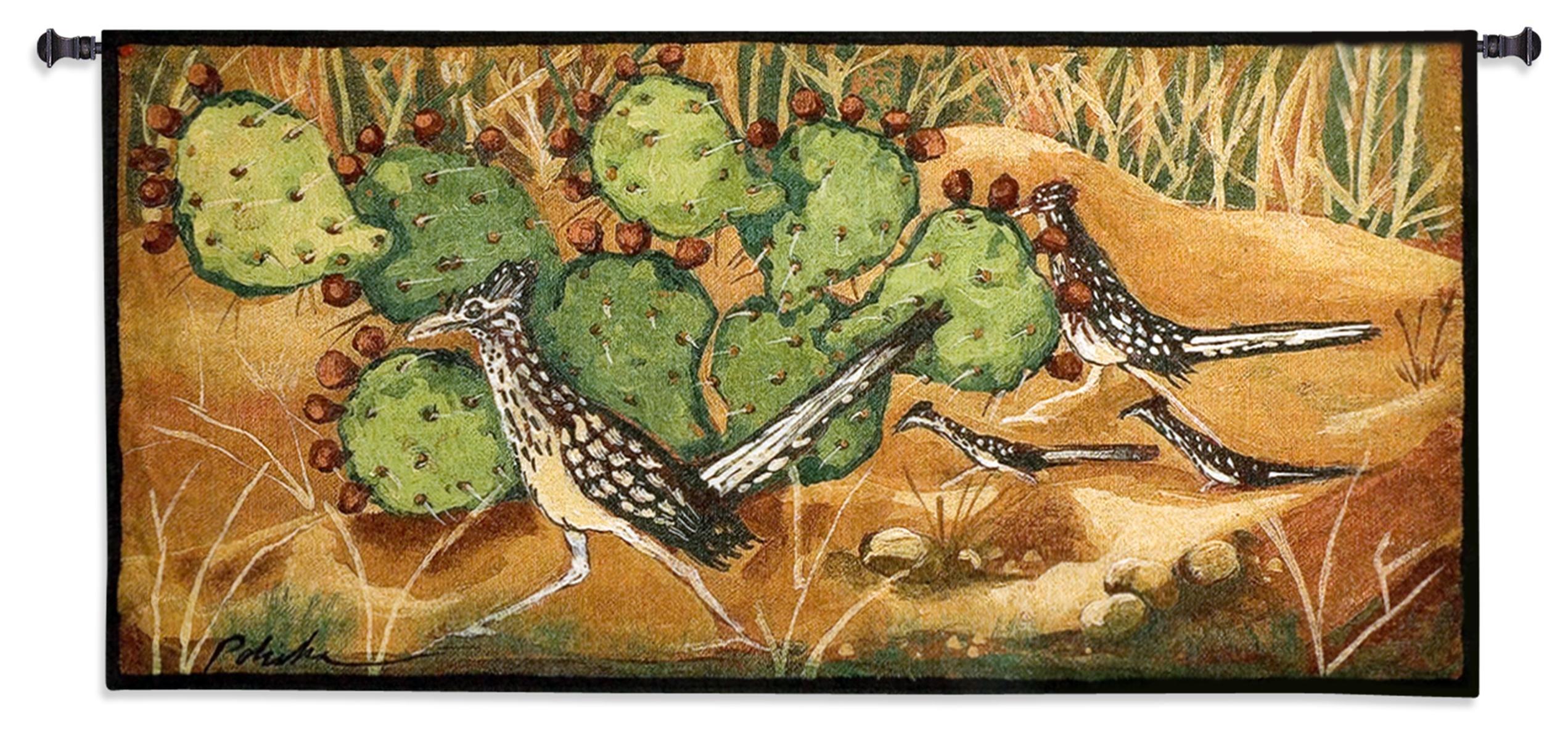 Fine Art Tapestries ''Desert Tracks'' Wall Tapestry
