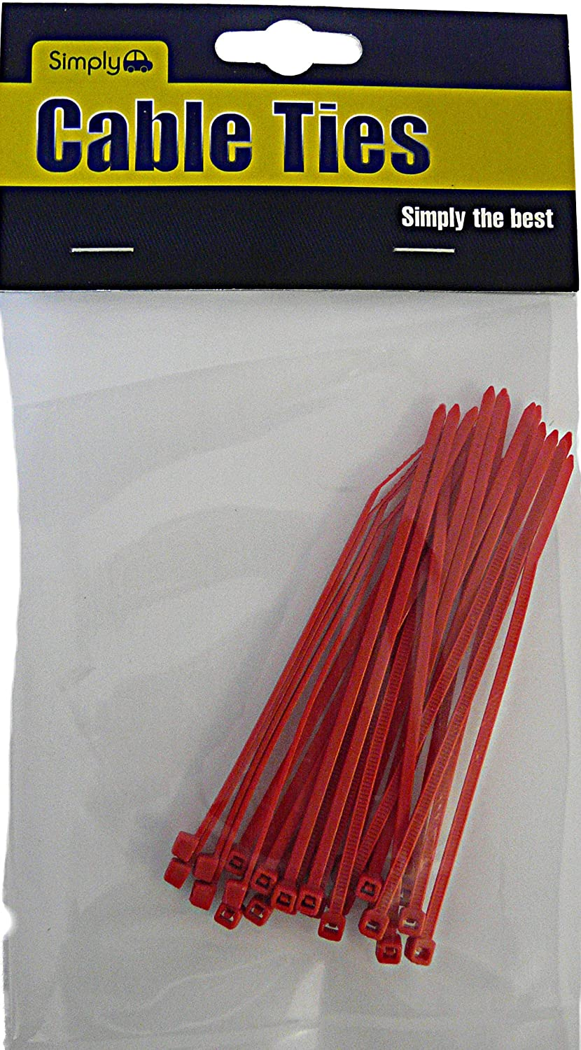 Simply SCT01//RED Cable Ties Red