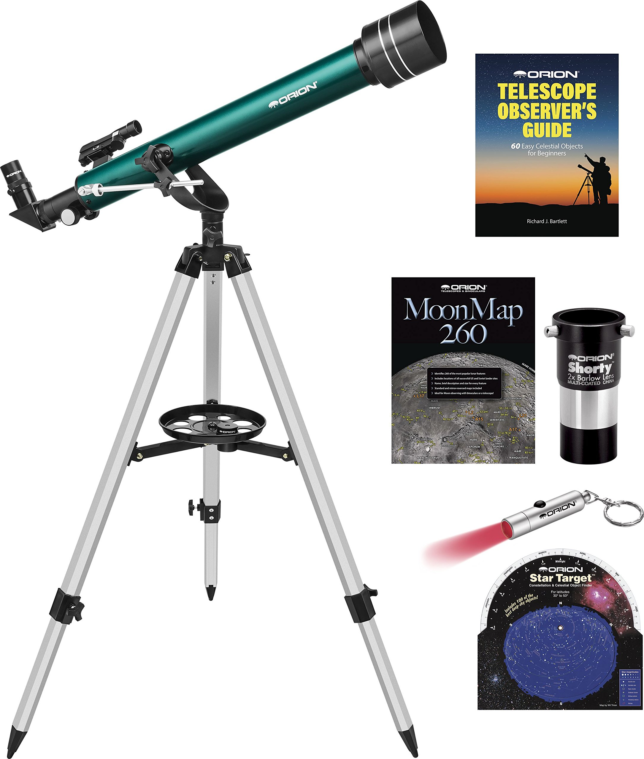 Orion Observer II 60mm Altazimuth Refractor Telescope Kit by Orion