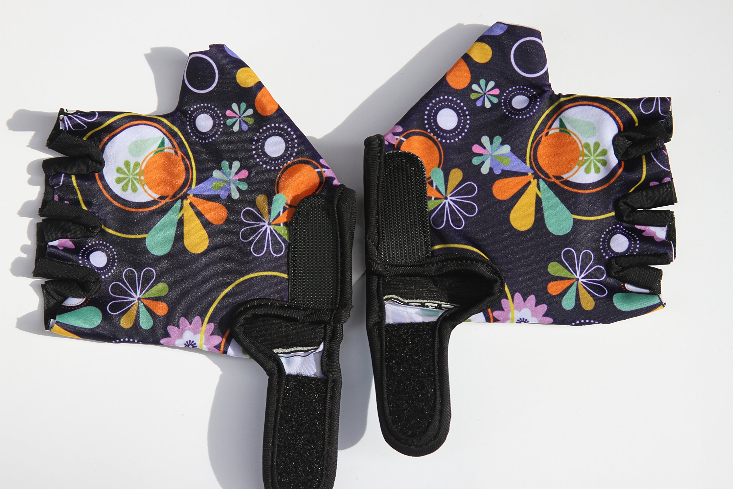 HANG Monkey Bars Gloves With Grip Control (Flowers) For children 5 and 6 years old by HANG (Image #2)
