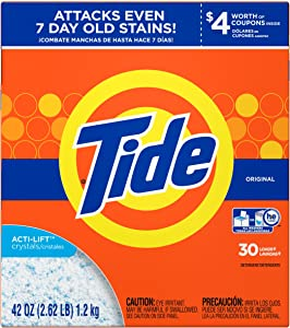 Tide Original HE Turbo Powder Laundry Detergent, 30 Loads, 42 Oz