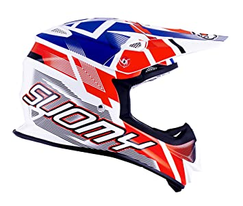 Suomy Casco Motocross MR Jump, Multicolor (Especial Blanco/Rojo/Azul),